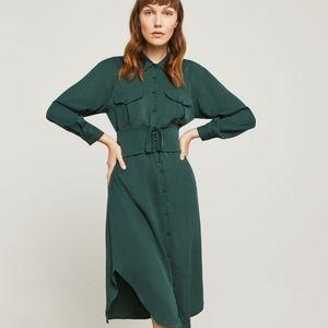 BCBG Corseted Olive Dress NWT